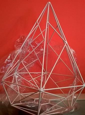 Порошковая окраска. Примеры работ - Светильник-многоугольник украсит