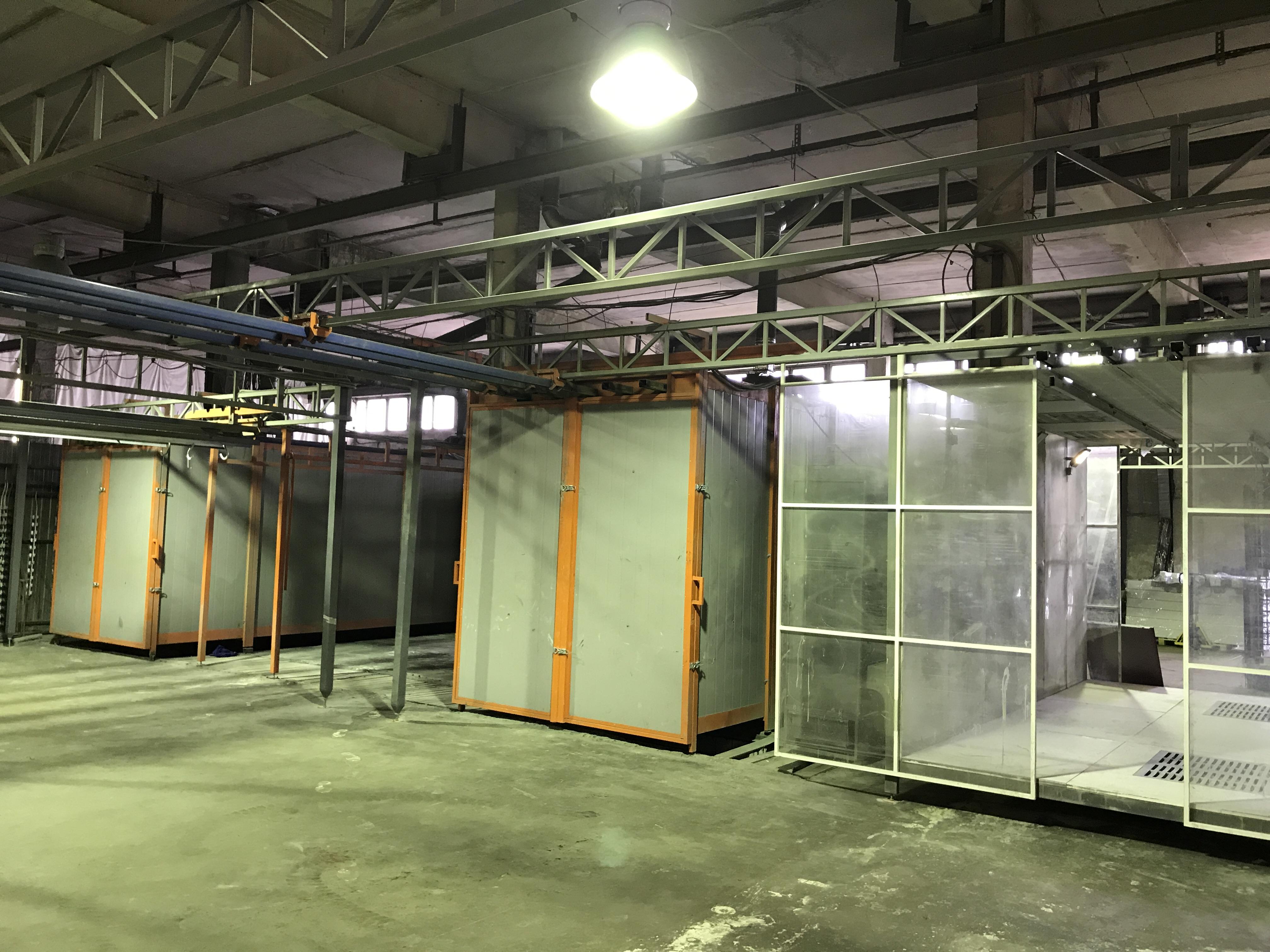 Порошковая окраска. Примеры работ - Завершен процесс модернизации 2-х технологических участков для порошковой покраски