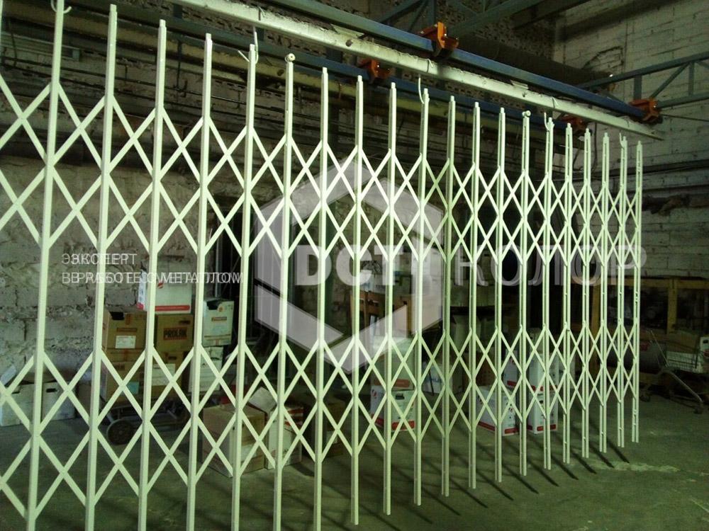 Порошковая окраска. Примеры работ - Изготовление раздвижных решеток из металла