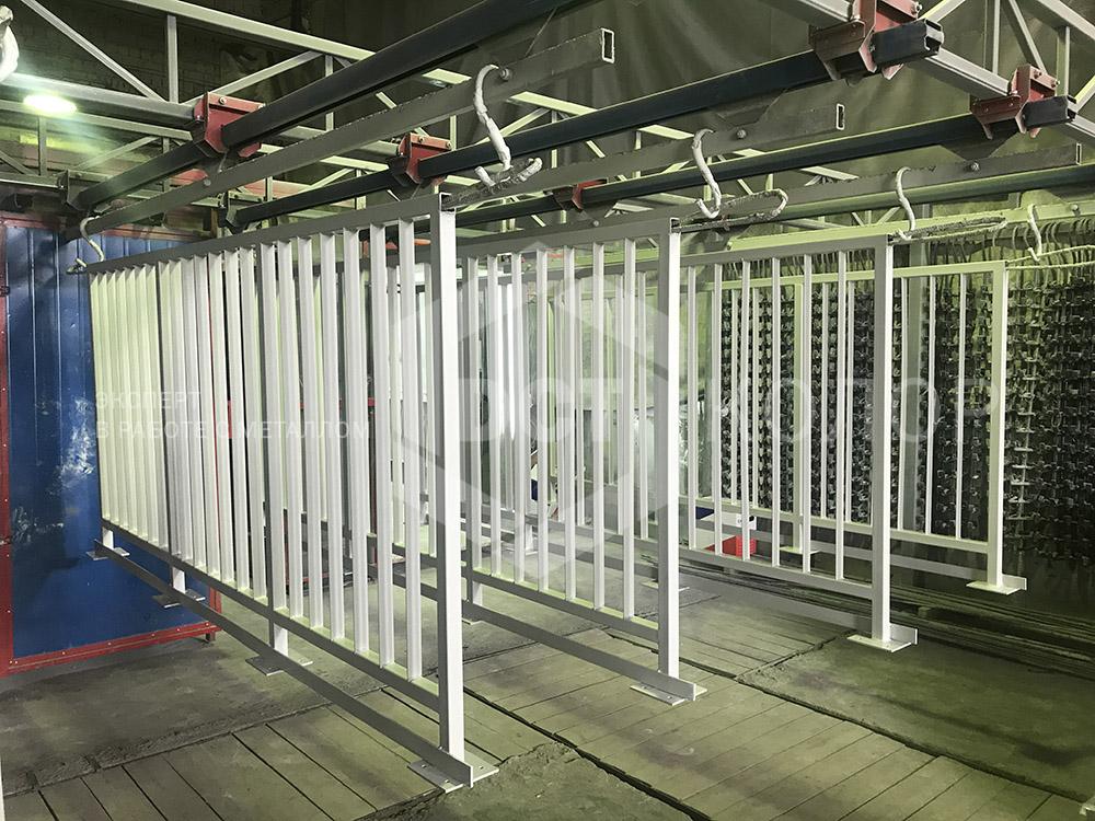 Порошковая окраска. Примеры работ - Изготовление ограждений балконов из металла