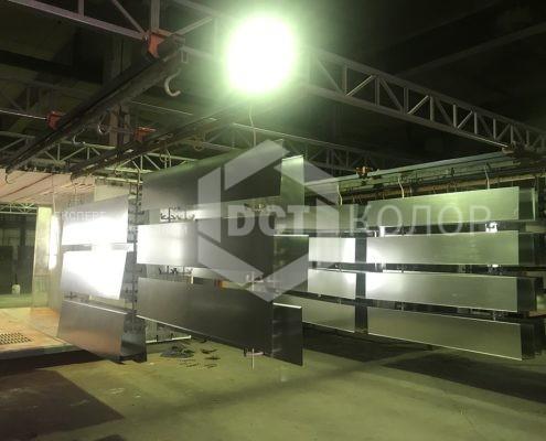 Порошковая окраска. Примеры работ - Компания ДСТ-Колор утверждена в качестве подрядчика по покраске фасадных кассет в рамках проекта по переносу платформы Северянин к станции «Ростокино» Московского центрального кольца (МЦК).